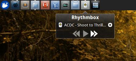 dockbarx-xfce-rhythmbox