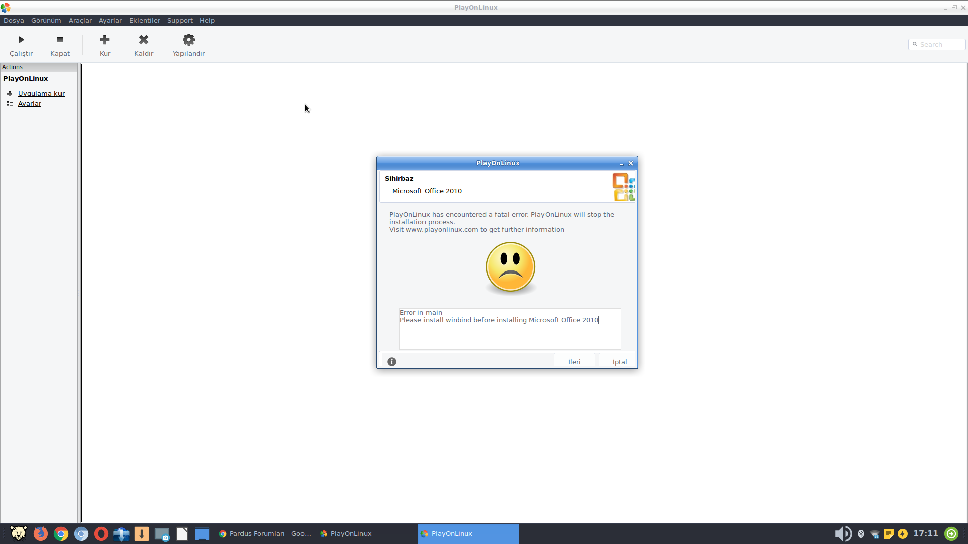 please install winbind before installing microsoft office 2010 playonlinux